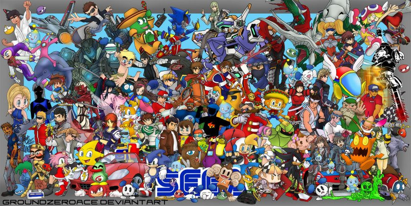 SEGA_ALL_STARS_REUNION_by_groundzeroace